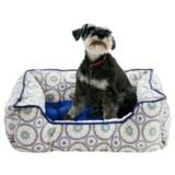 "Cynthia Rowley Tile Medallion Lounger Dog Bed - 28x22"""