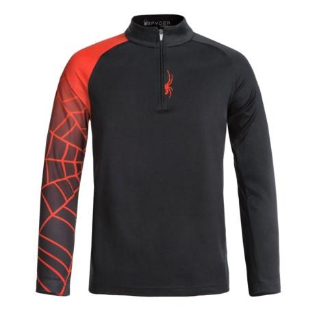 Spyder Linear Web Turtleneck - Zip Neck, Long Sleeve (For Big Boys)