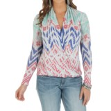 Wrangler Printed Sweater - Surplice Front (For Women)