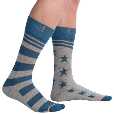 adidas Neo Stars & Stripe Socks - Crew (For Men)