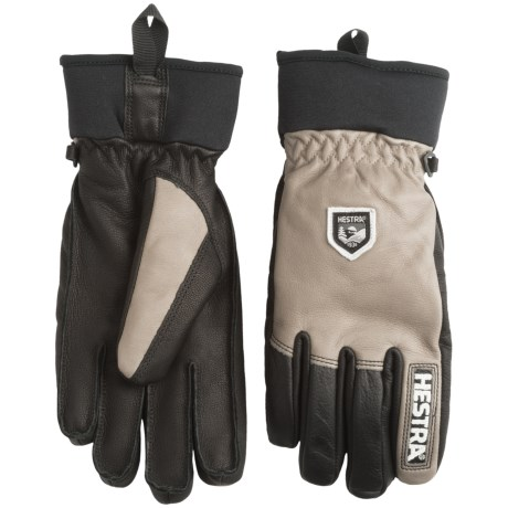 Hestra Army Leather Gloves - Removable Wool Lining (For Men and Women)