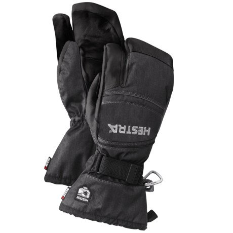 Hestra CZone Mountain 3-Finger Goat Leather Gloves - Waterproof, Insulated (For Men and Women)
