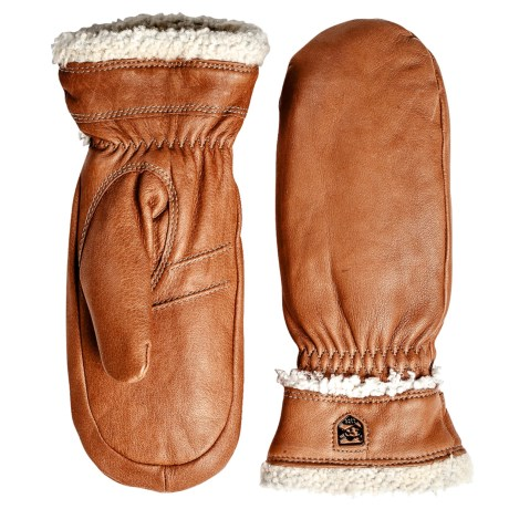 Hestra Deerskin PrimaLoft® Mittens - Insulated (For Men and Women)