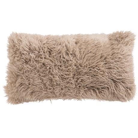 """Auskin Curly Longwool Sheepskin Pillow - 11x22"""""""
