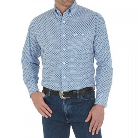 Wrangler George Strait Western Shirt - Long Sleeve (For Men and Big Men)