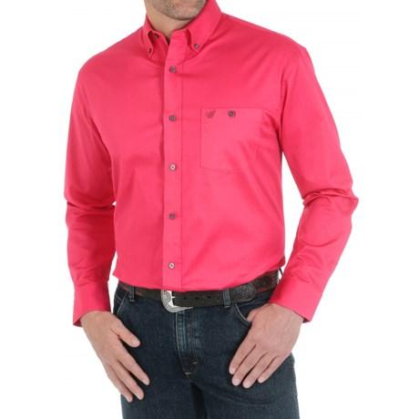 Wrangler Advanced Comfort Solid Shirt - Button Front, Long Sleeve (For Men)