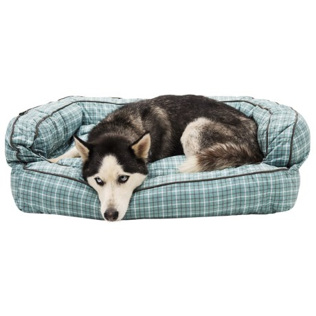 Telluride Tattersall Bolster Dog Bed - Extra Large, 36x27""