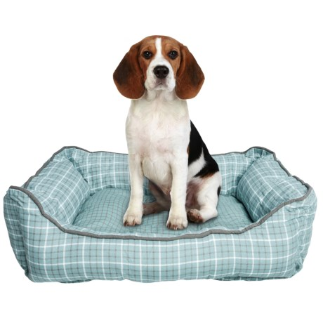 """Telluride Tattersall Lounger Dog Bed - 28x22"""""""