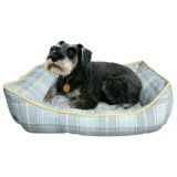 Telluride Dog Days Plaid Lounger Dog Bed - 28x22""