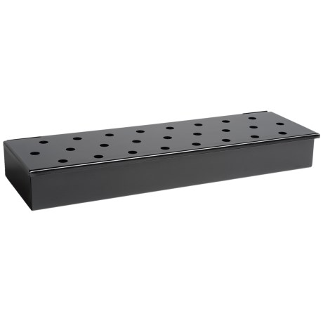 Charcoal Companion Long Smoker Box with Lid
