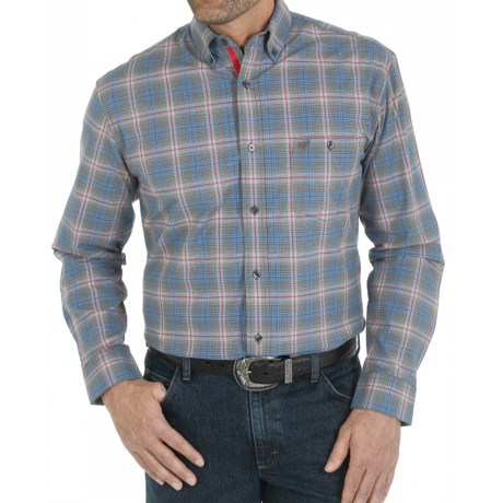 Wrangler Premium Performance Advanced Comfort Plaid Sport Shirt - Button Down, Long Sleeve (For Men)