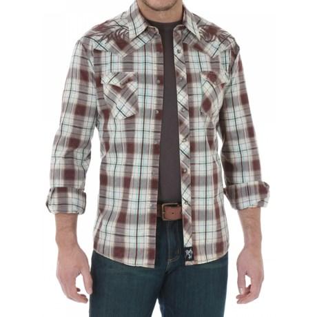 Wrangler Rock 47 Plaid Western Shirt - Snap Front, Long Sleeve (For Men)