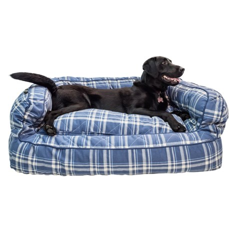 Telluride Camp Plaid Bolster Dog Bed - Large, 36x27""