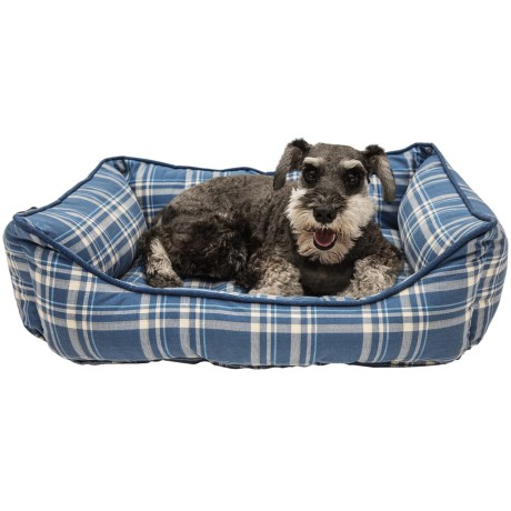 """Telluride Camp Plaid Lounger Dog Bed - 28x22"""""""