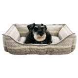 Cynthia Rowley Hudson Stripe Lounger Dog Bed - 28x22""