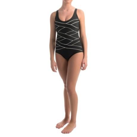Jones New York Crisscross Bandage One-Piece Swimsuit (For Women)