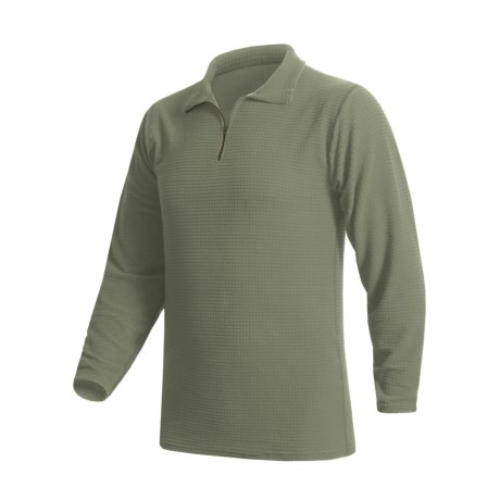 Wickers Base Layer Top - Expedition Weight, Zip Neck, Long Sleeve (For Men)