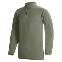 Wickers Long Underwear Shirt - Mock Zip, Long Sleeve (For Tall Men)