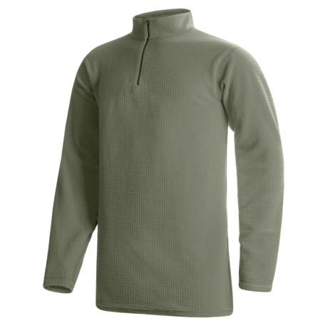 Wickers Long Underwear Shirt - Mock Zip, Long Sleeve (For Tall Men)