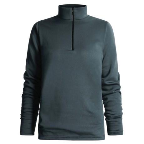 Wickers Mock Turtleneck Long Underwear Shirt - Zip Neck, Heavyweight, Long Sleeve (For Women)
