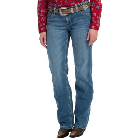 Straight-Leg Denim Jeans (For Women)