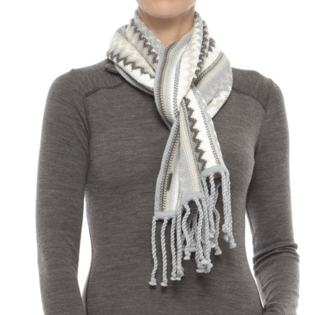 SmartWool Pine Lake Chevron Scarf - Merino Wool (For Men and Women)