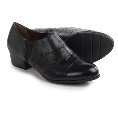 Tamaris Stacked Heel Shoes - Leather, Slip-Ons (For Women)