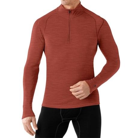 SmartWool NTS 250 Base Layer Top - Merino Wool, Zip Neck, Long Sleeve (For Men)