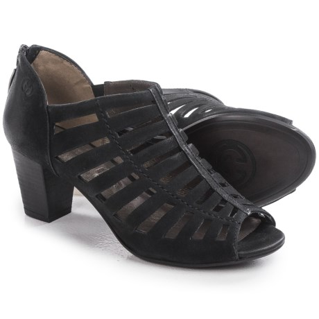 Gerry Weber Lotta 04 Peep Toe Sandals - Nubuck (For Women)