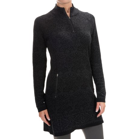 Cynthia Rowley Jacquard Pullover Sweater - Zip Neck (For Women)