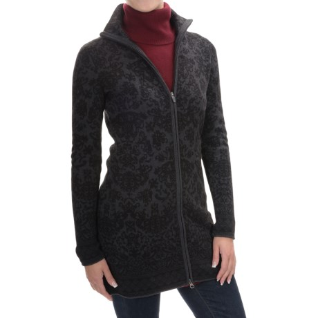 Cynthia Rowley Long Jacquard Cardigan Sweater - Full Zip (For Women)