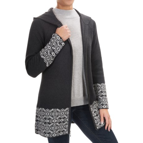 Cynthia Rowley Border Print Hooded Sweater (For Women)