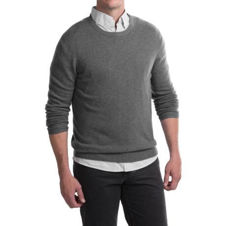 Tahari Basic Crew Cashmere Sweater (For Men)