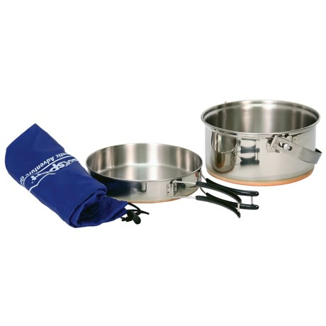 Texsport Stainless Steel Camping Cook Pan Set - 2-Piece