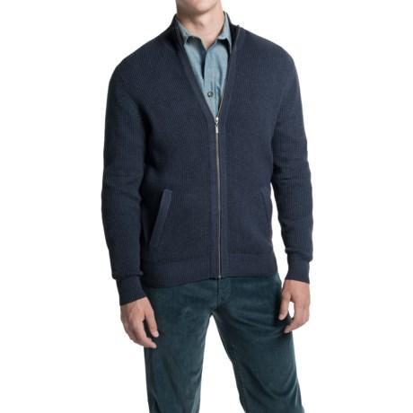 British Khaki Textured Mock Jacket - Cotton (For Men)