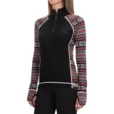 Telluride Jacquard Sweater - Merino Wool, Zip Neck (For Women)