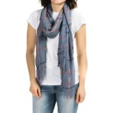 Roffe Accessories Plaid Fringed Scarf (For Women)