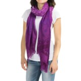 Roffe Accessories Fringed Jacquard Scarf (For Women)