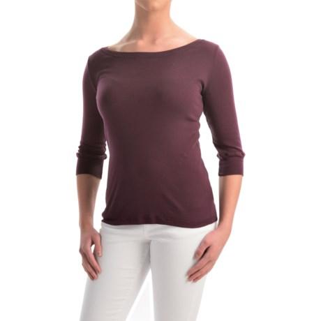 allen allen Cotton T-Shirt - Elbow Sleeve (For Women)
