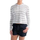allen allen Hooded Striped Shirt - Long Sleeve (For Women)