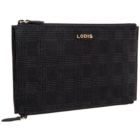 Lodis Lani Double-Zip Leather Pouch (For Women)