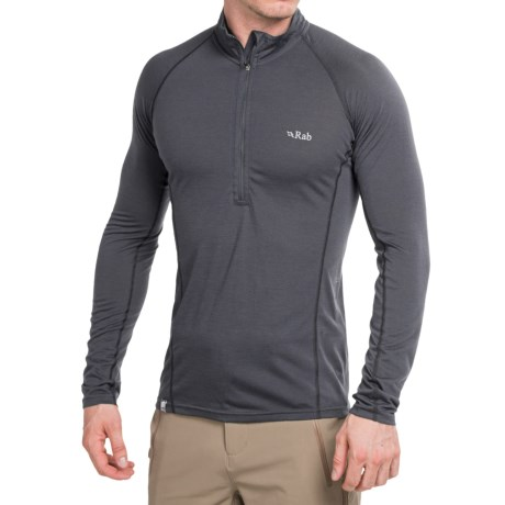 Rab Meco 165 Midweight Base Layer Top - Merino Wool, Zip Neck, Long Sleeve (For Men)