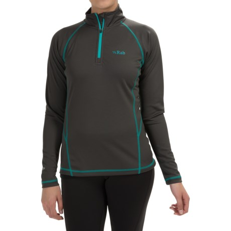 Rab DRYflo® 150 Base Layer Top - Zip Neck, Long Sleeve (For Women)