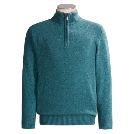 Barbour Wool Blend Donegal Sweater - Zip Neck (For Men)