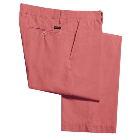 Mason's Washed Italian Cotton Poplin Pants - Garment-Dyed (For Men)
