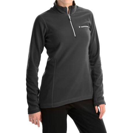 Peak Performance Light Micro Pullover Shirt - Zip Neck, Long Sleeve (For Women)