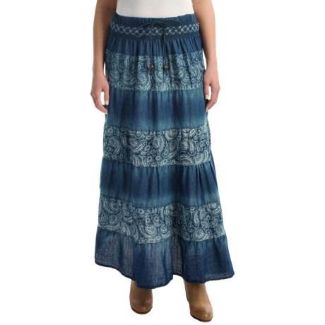Studio West Paisley Tiered Skirt (For Women)