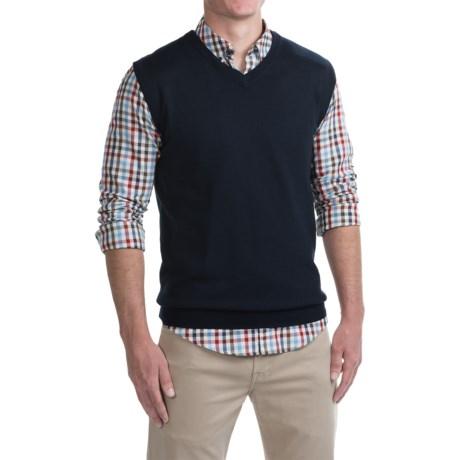 For the Republic For The Republic V-Neck Sweater Vest - Merino Wool (For Men)