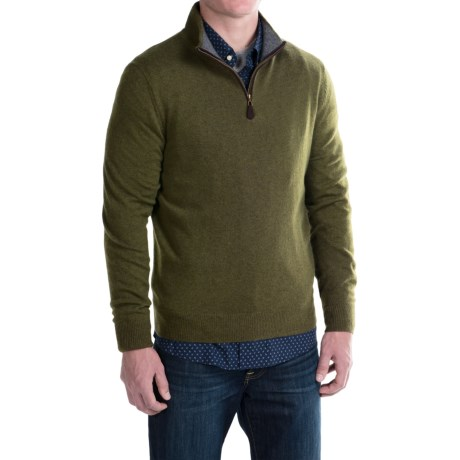 Oliver Perry Cashmere Zip Neck Sweater (For Men)