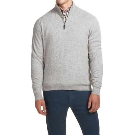 Oliver Perry Cashmere Sweater - Zip Neck (For Men)